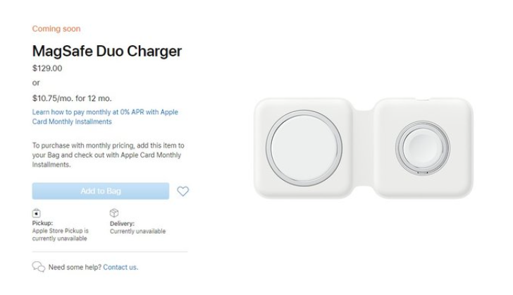 Apple раскрыла цену MagSafe Duo Charger